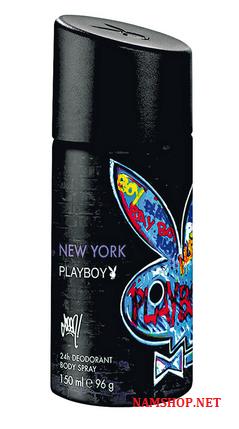 Chai xịt khử mùi toàn thân cho nam PlayBoy New York