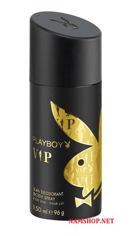 Xịt khử mùi toàn thân nam PlayBoy Vip - hương nước hoa nam