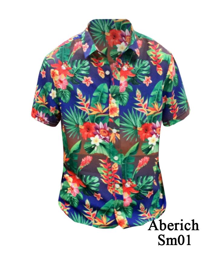 Áo họa tiết Aberich Sm01 - Thời trang Hawaii cho nam