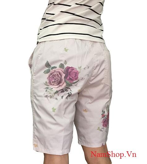 Quần short nam họa tiết dành cho nam mặc đi dạo