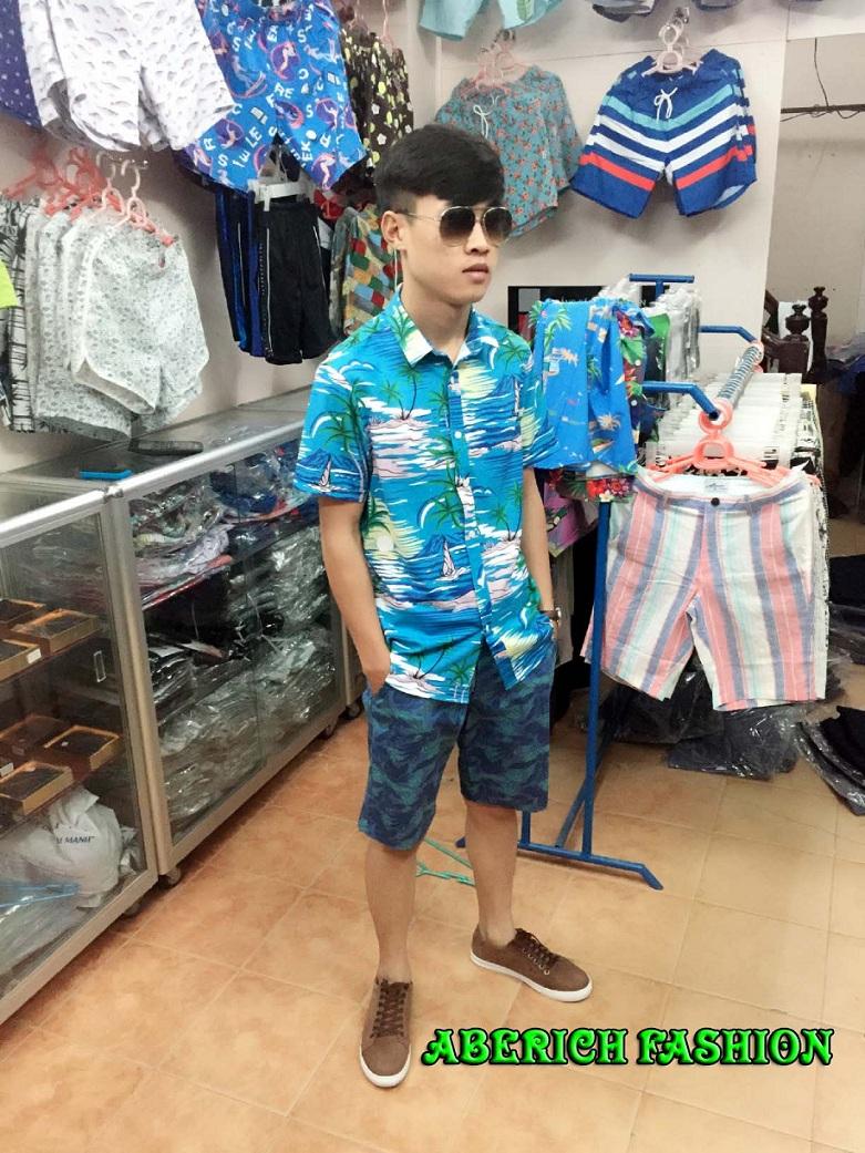 Thời trang nam đi biển mang đậm phong cách Hawaii