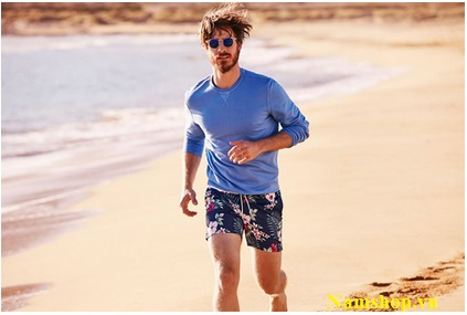 Hình ảnh quần short đi biển cho nam hiệu Aberich