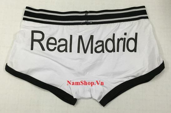 Quần lót nam in hình chữ Real Madrid