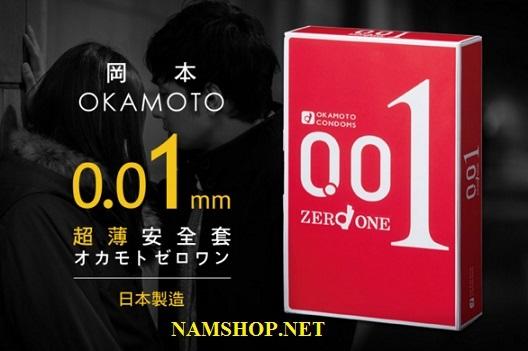 Hình ảnh bao cao su mỏng nhất, tốt nhất Okamoto 0.01