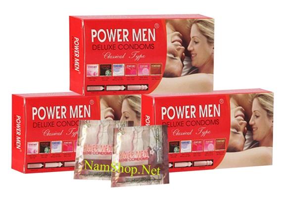 Combo bao cao su giá rẻ Power Men dùng cho gia đình