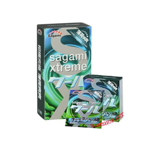 Sagami Xtreme Spearmint : Bcs hương bạc hà, chống xuất tinh sớm