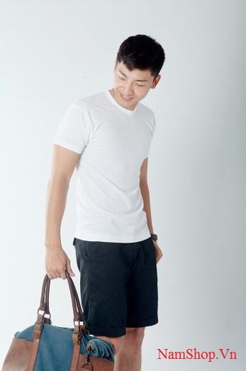 Áo phông cộc tay cho nam hàng dệt kim đông xuân
