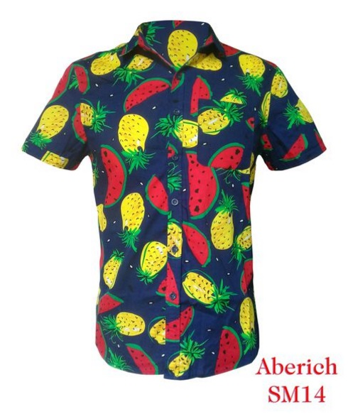 Áo sơ mi họa tiết hoa quả Aberich SM14