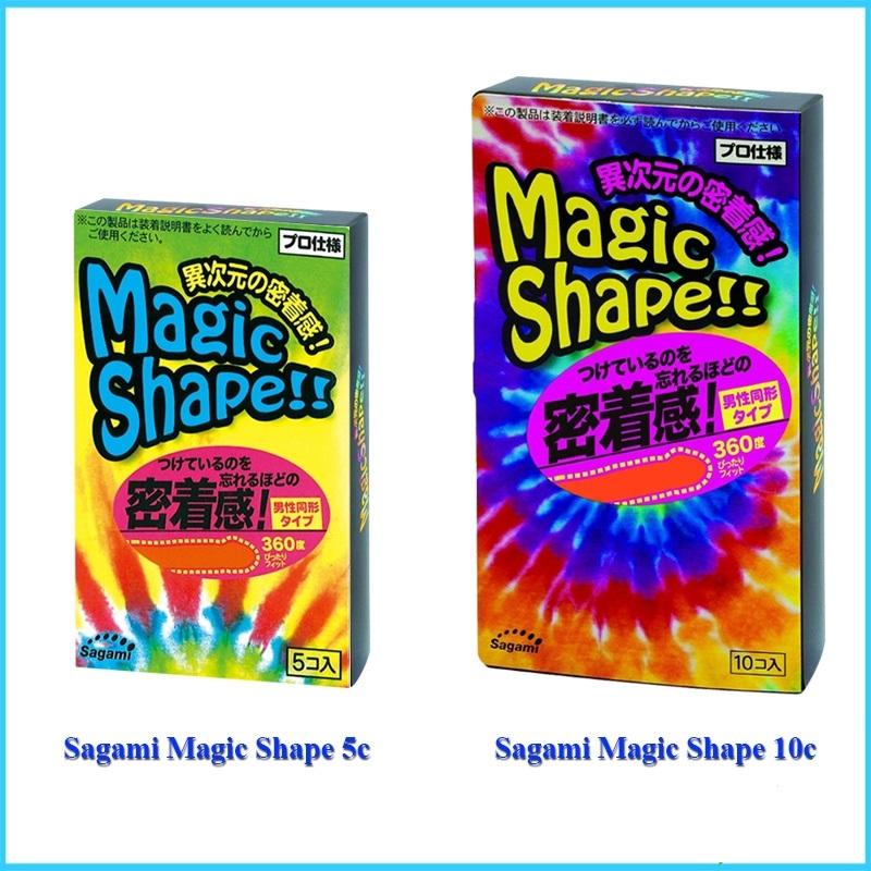 Bao cao su Sagami Magic Shape size nhỏ, ôm sát