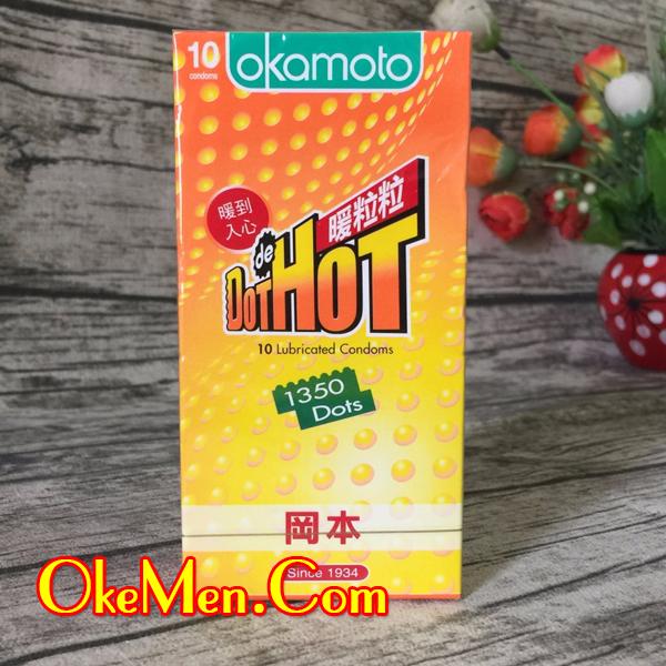 Bao cao su có gai Okamoto Dot Hot 1350 hạt gai