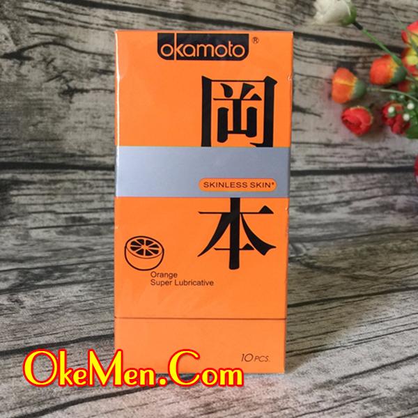 Bao cao su có hương thơm Okamoto Orange hương cam