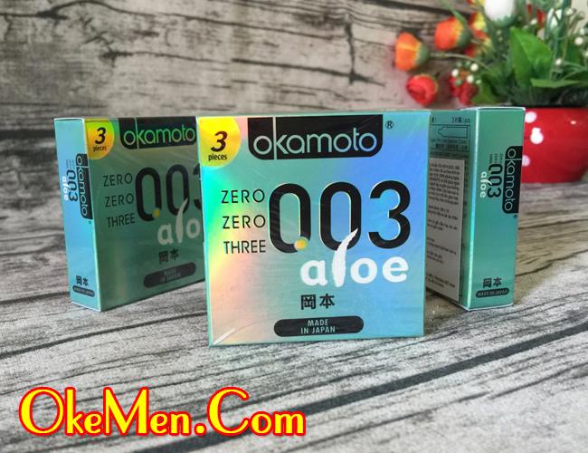 Hình ảnh bao cao su Okamoto 003 Aloe siêu mỏng