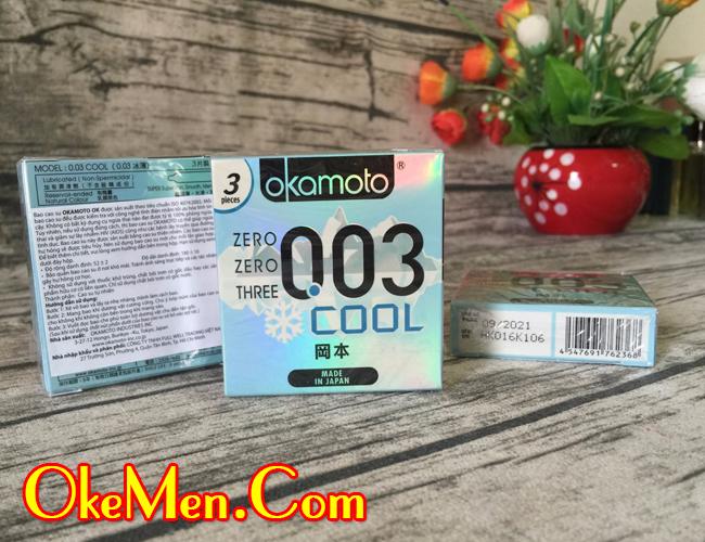 Hình ảnh bao cao su Okamoto 003 Cool siêu mỏng