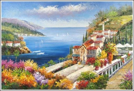 tranh phong cảnh biển 9