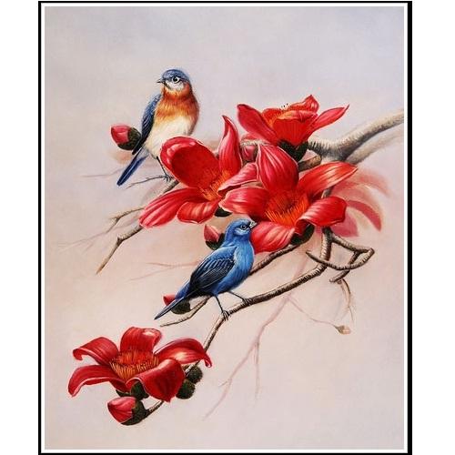 tranh đôi chim 6