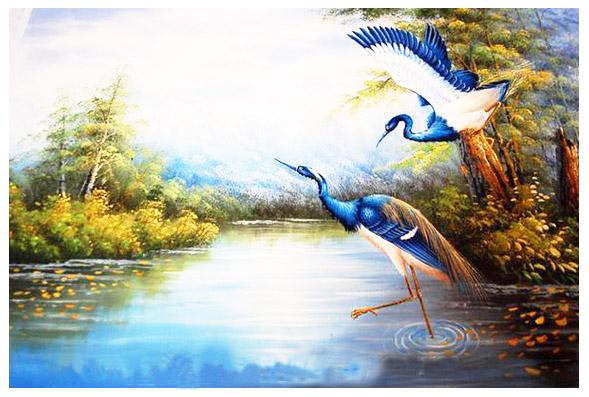 tranh đôi chim 4