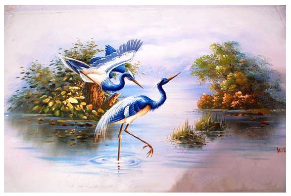 tranh đôi chim 5