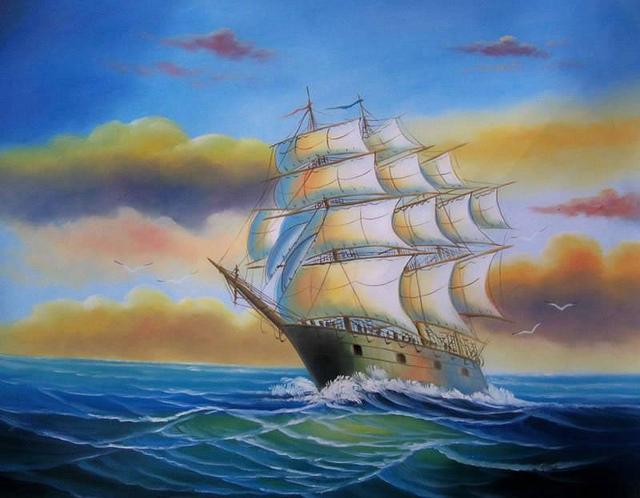tranh thuận buồm xuôi gió 1