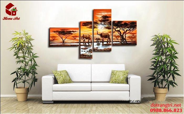 tranh bộ hiện đại home art 3