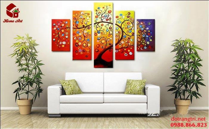 tranh bộ hiện đại home art 4