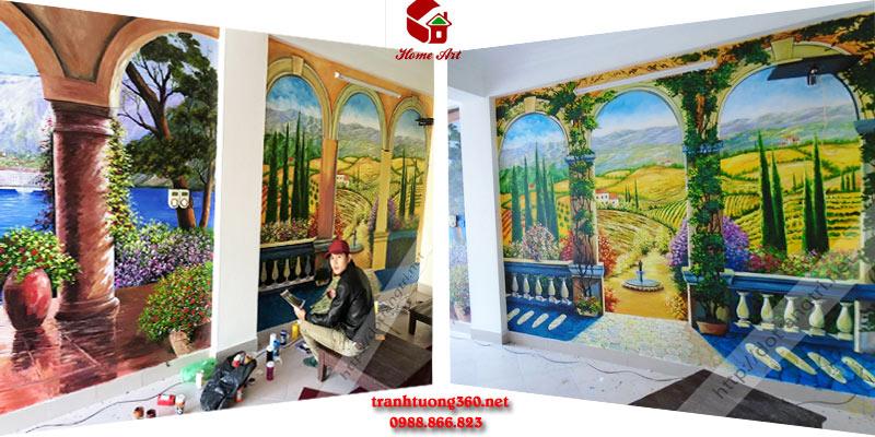 vẽ tranh tường home art 2