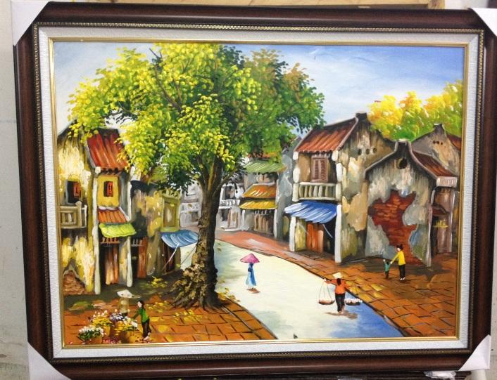 tranh sơn dầu phố cổ hà nội 2