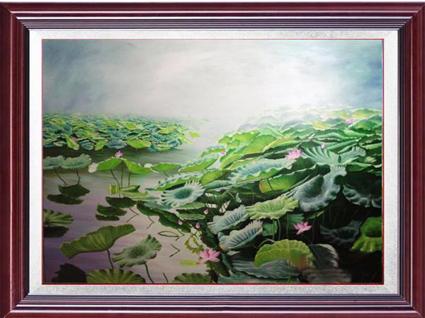 Tranh Sơn Dầu hoa sen 32