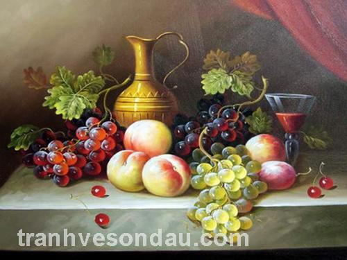 tranh sơn dầu tĩnh vật 2