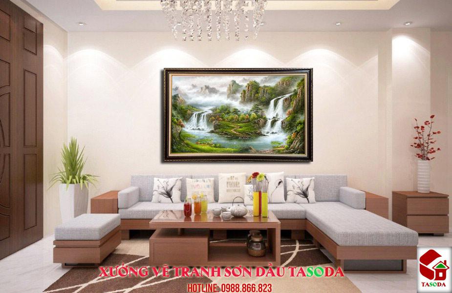 Tranh sơn dầu treo phòng khách 3