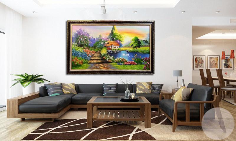 Tranh sơn dầu treo phòng khách 7