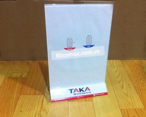 Menu mica A4 được ứng dụng rộng rãi tại các cửa hàng
