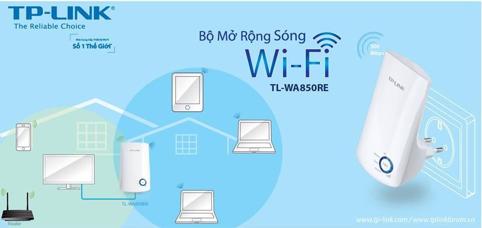 Bộ mở rộng sóng wifi tplink TL-WA850RE