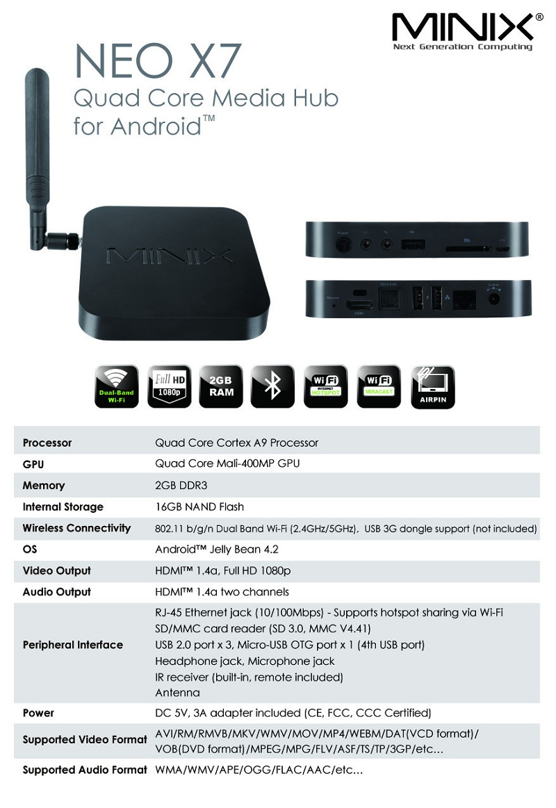 Android TV Box Minix Neo X7