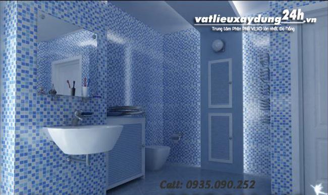 Gạch mosaic ốp trang trí phòng tắm