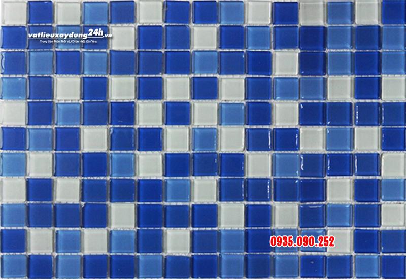 Gạch mosaic thủy tinh ốp hồ bơi MT-118