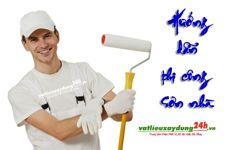 Hướng dẫn các bước thi công sơn nhà