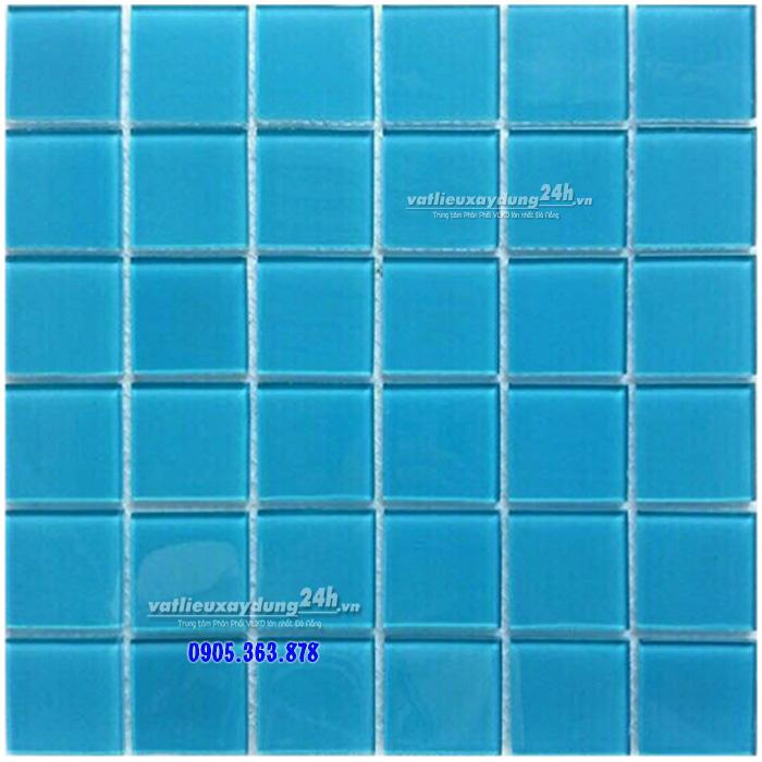 Gạch mosaic thủy tinh ốp hồ bơi 48MD-002
