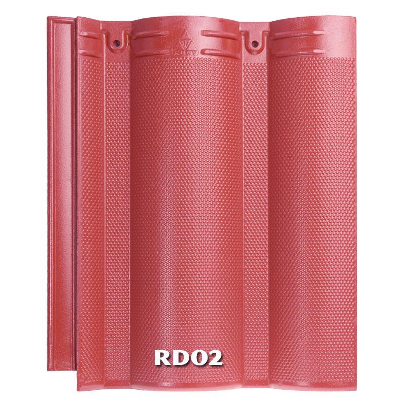 Ngói màu RUBY RD02 màu đỏ tươi