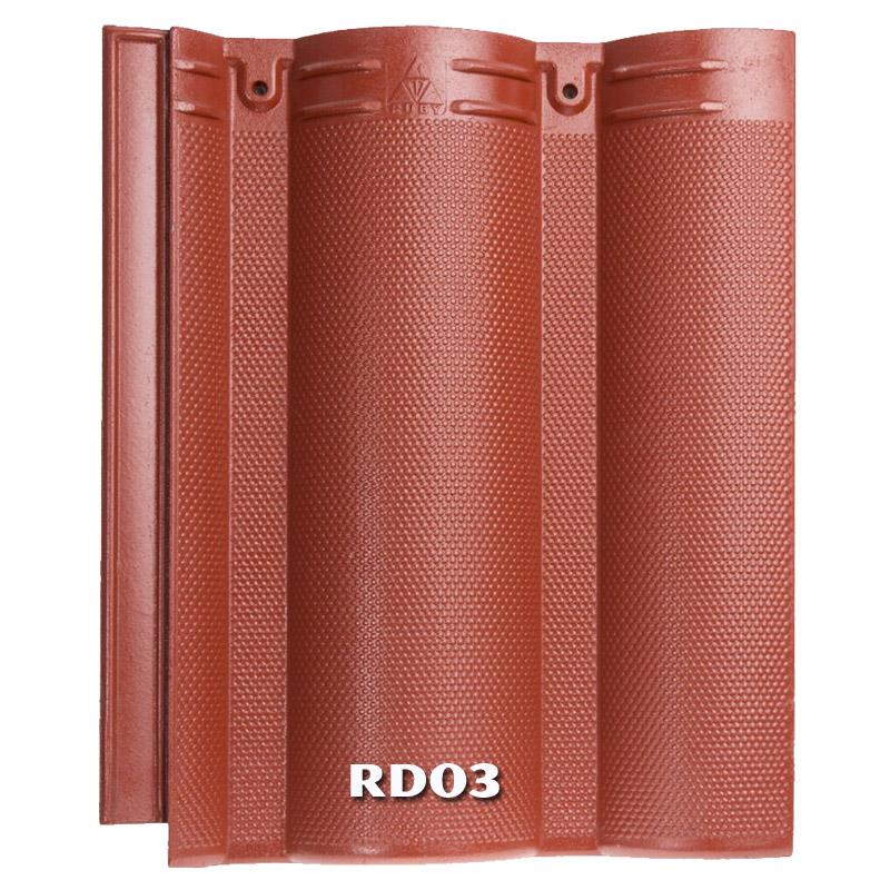 Ngói Nhật Ruby RD03 màu đỏ đậm
