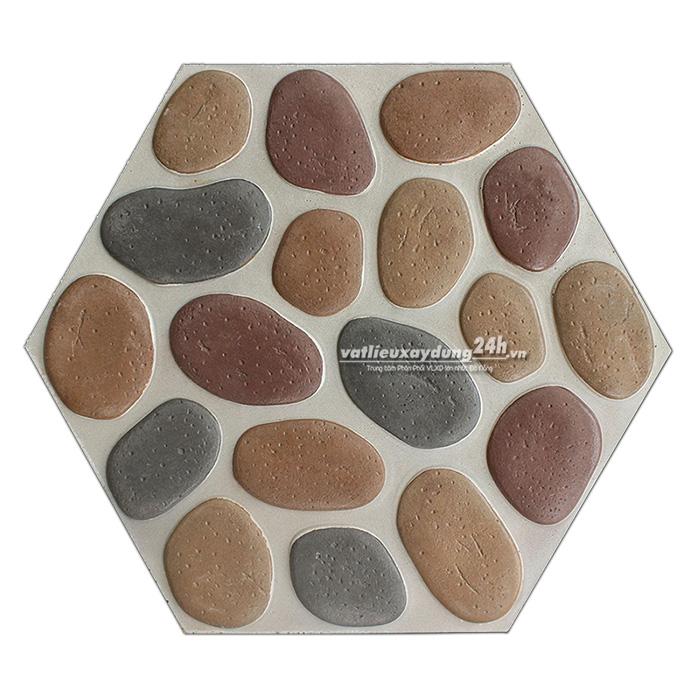 Đá suối hạt đa sắc lục giác Vĩnh Cửu