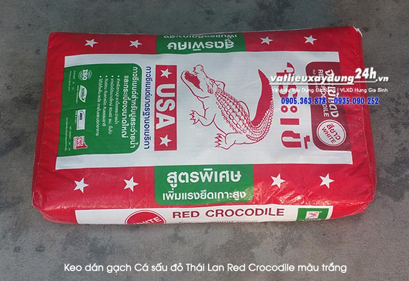 Keo dán gạch Cá sấu đỏ Thái Lan Red Crocodile màu trắng