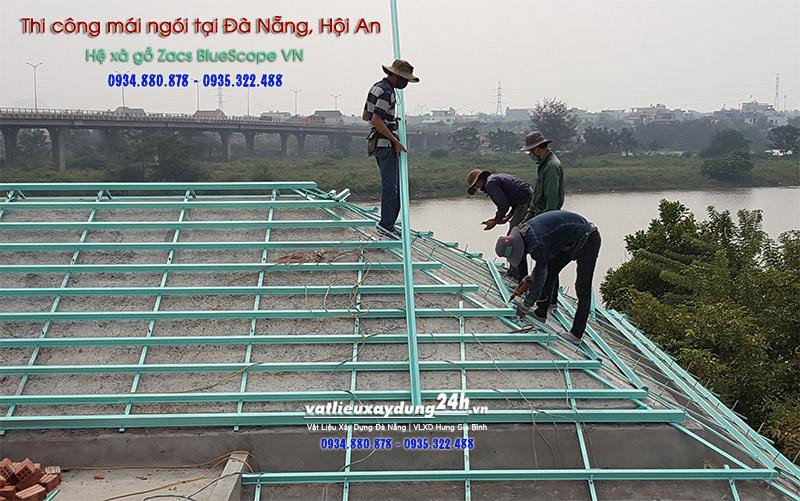 Thi công lợp mái ngói tại Đà Nẵng Hội An