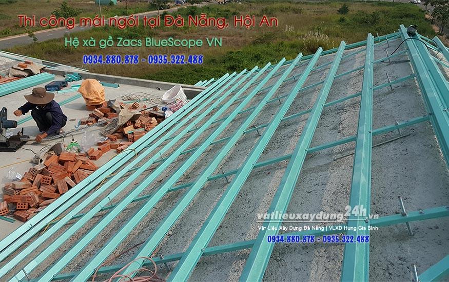 Thi công lợp mái ngói tại Đà Nẵng