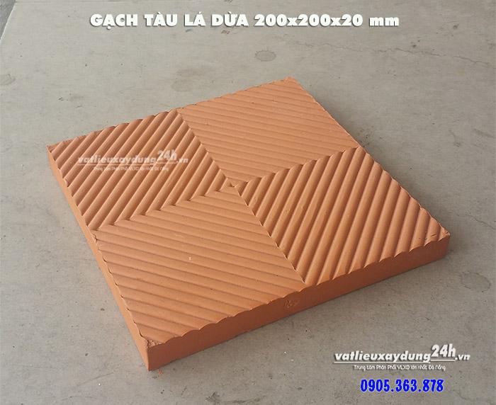 Gạch tàu lá dừa 20x20x2 cm