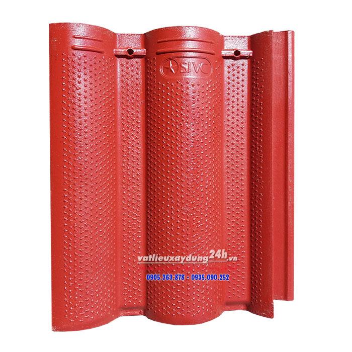 Ngói màu Sao Việt Nhật SJVC màu đỏ đô DT-07