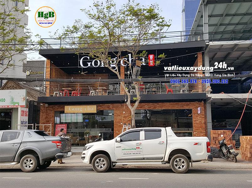 Cung cấp Gạch cổ bìa cho quán trà sữa Gong Cha