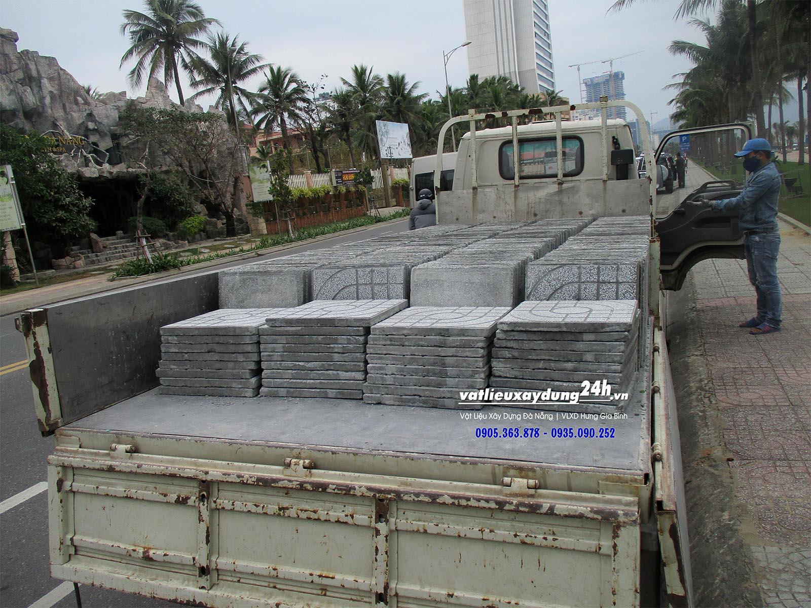 Gạch terrazzo lát vỉa hè Đà Nẵng