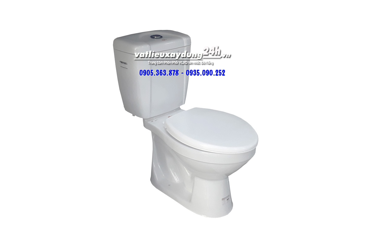 Bồn cầu toilet HC 2 nút nhấn