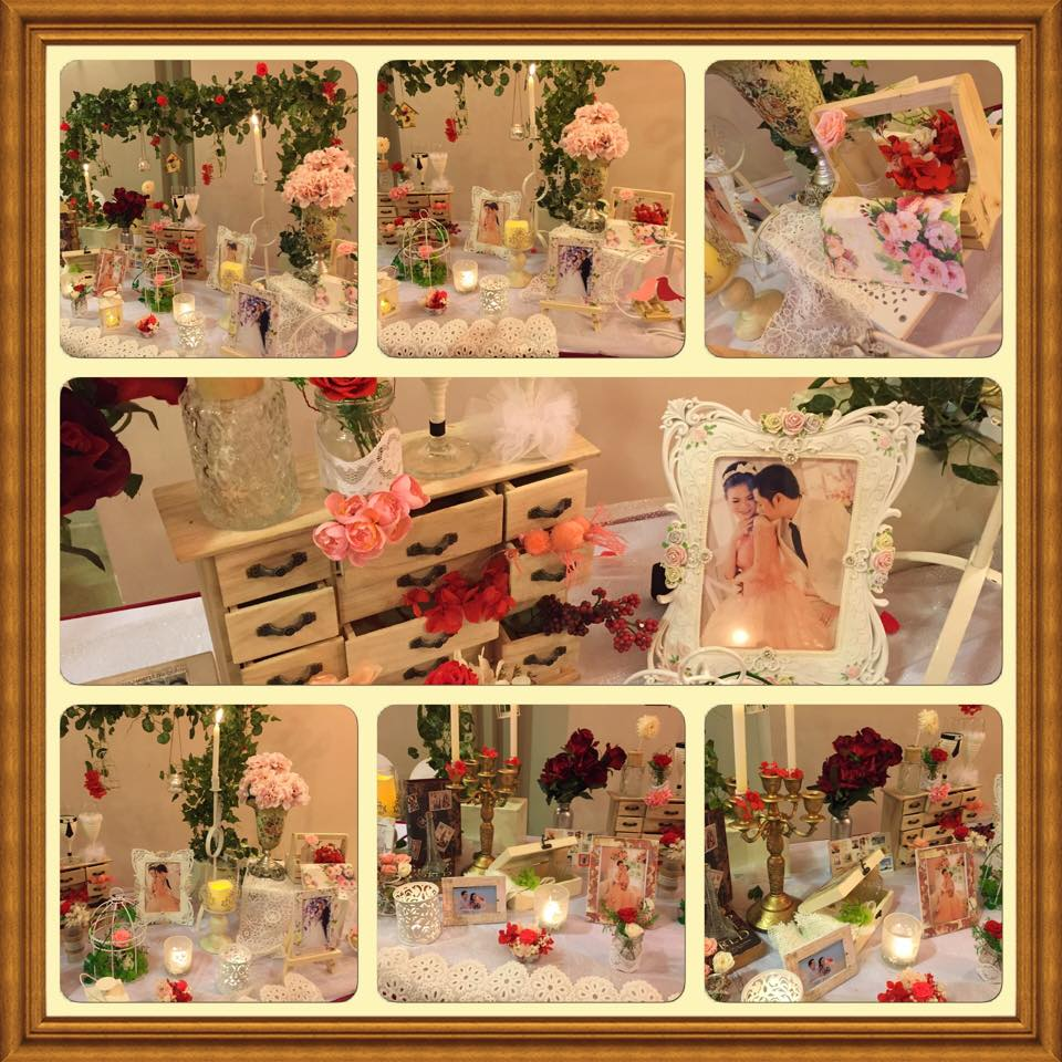 bàn gallery tiệc trà chiều trang trí đám cưới