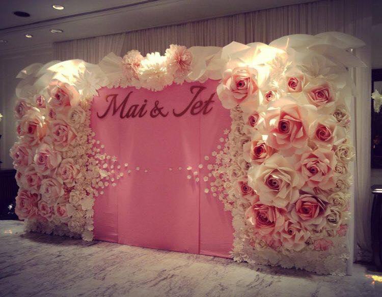 backdrop hiflex hoa giấy